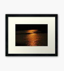 Sunset On Golden Pond  Framed Print