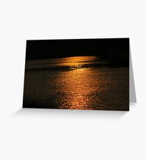 Sunset On Golden Pond  Greeting Card