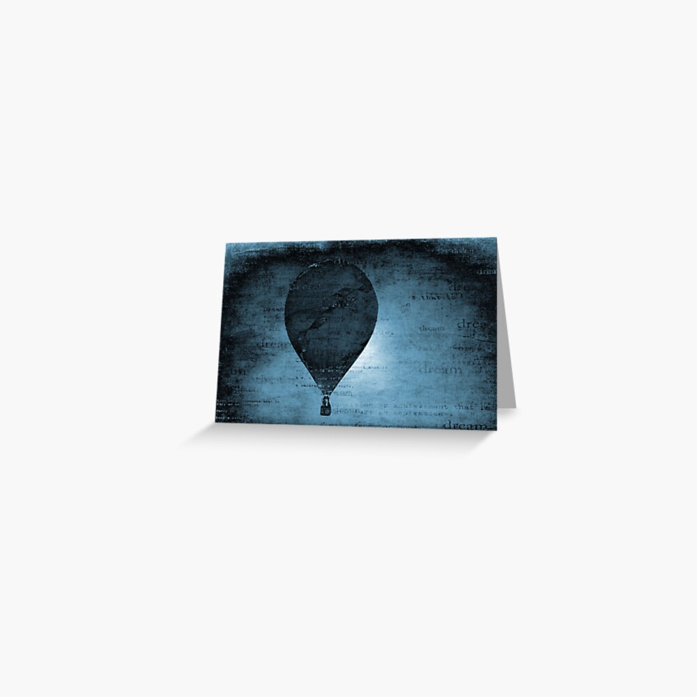 Flying in a Blue Dream Greeting Card