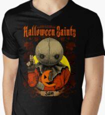 Camiseta de cuello en V Santos de Halloween: Sam