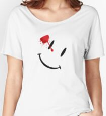 Watchmen bloody smiley  Women's Relaxed Fit T-Shirt