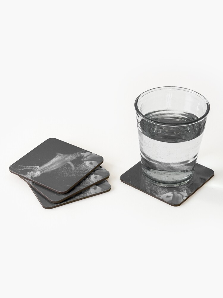 Alternate view of B&W Giant Black Marlin Coasters (Set of 4)