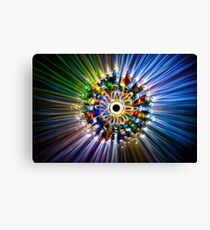 A flower, painted with light Canvas Print