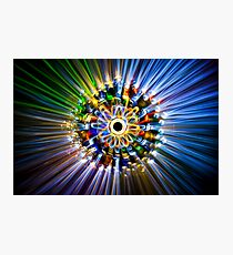 A flower, painted with light Photographic Print