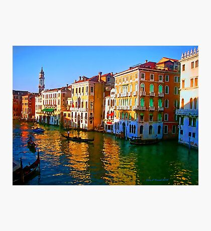 Venice - Central Canal Photographic Print