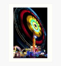 Very Big Fun Fair Ride Art Print