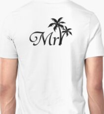 Mister Mr and Mrs Wedding Honeymoon Palm Tree Unisex T-Shirt