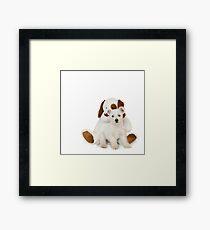 Westie Pup and Teddy Bear Framed Print