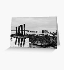 Coastal defences, Courtmacsharry Bay, West Cork, Ireland Greeting Card