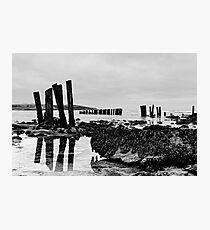 Coastal defences, Courtmacsharry Bay, West Cork, Ireland Photographic Print