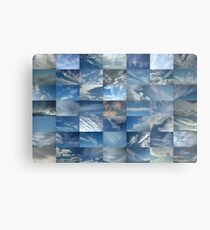 Patchwork of Clouds in a Blue Sky Metal Print