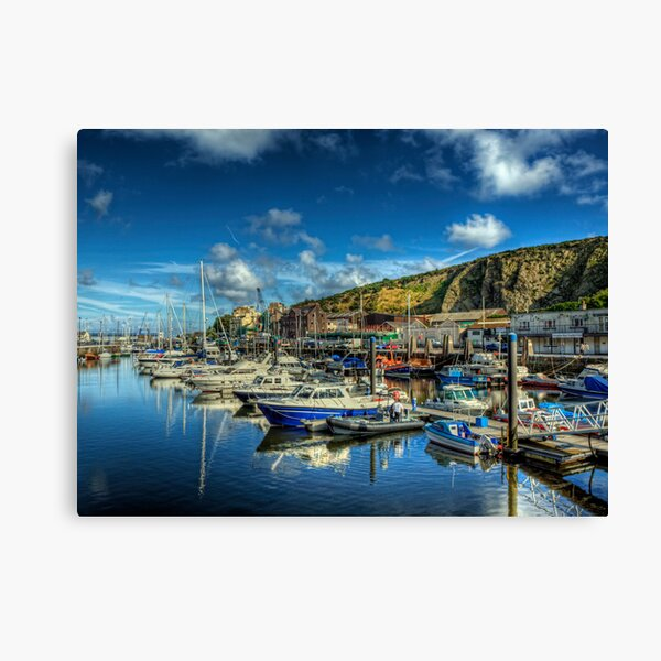 The Marina in Douglas, Isle of Man Canvas Print