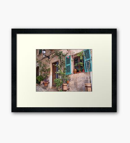 Beauty In The Majorcan Mountains Framed Print