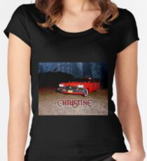 Christine Plymouth Fury 1958  Women's Fitted Scoop T-Shirt