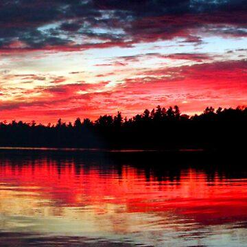 9-7-11 Lake Ozonia Sunset by bpelkey1