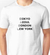 Tokyo Seoul London Newyork T-Shirt