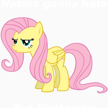 Haters gonna hate, Fluttershy doesn't care by Obler