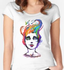 Camiseta entallada de cuello ancho The Fishes Inside my Head