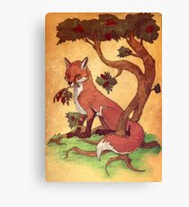 Commission: Red Fox Canvas Print