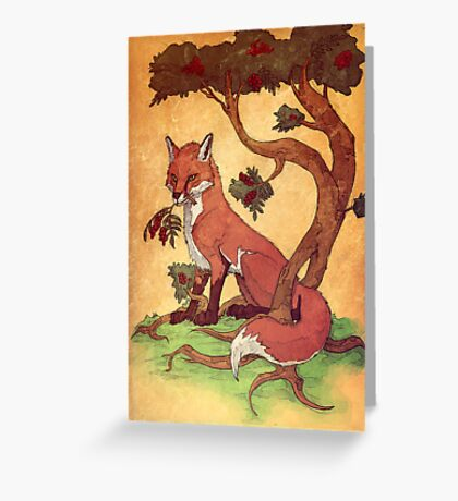 Commission: Red Fox Greeting Card