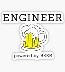 Engineer (powered by beer) Sticker