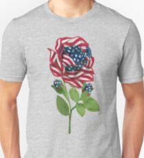 ♥ º ☆.¸¸.•´¯`♥ Stars & Stripes Rose T-Shirt ♥ º ☆.¸¸.•´¯`♥ Unisex T-Shirt