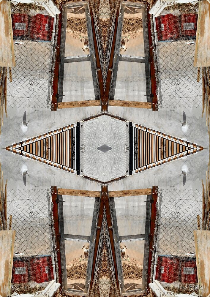 wooden gate repeat by H J Field