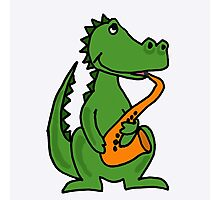 """""""Cool Alligator Playing Saxophone"""" by naturesfancy   Redbubble   220 x 200 jpeg 9kB"""