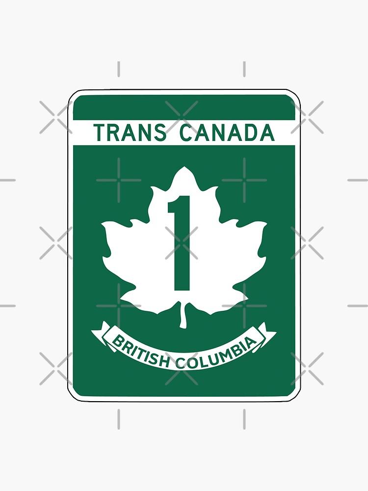 British Columbia, Trans-Canada Highway Sign de worldofsigns