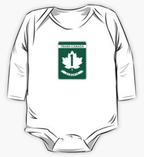 Alberta, Trans-Canada Highway Sign One Piece - Long Sleeve