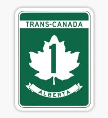 Alberta, Trans-Canada Highway Sign Sticker