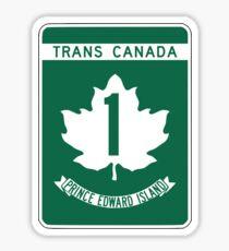 Prince Edward Island, Trans-Canada Highway Sign Sticker