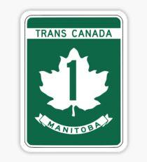 Manitoba, Trans-Canada Highway Sign Sticker
