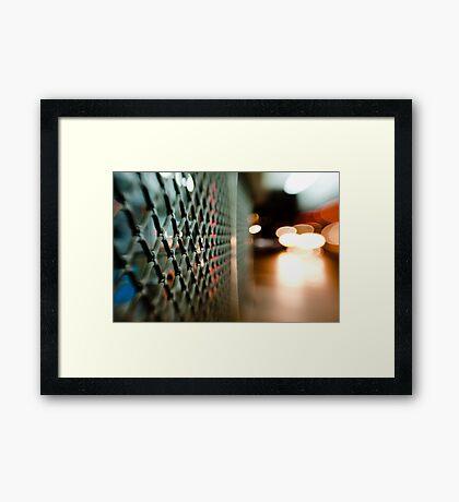 lattice@night Framed Print