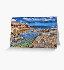 Rockpool at Talia Caves Greeting Card