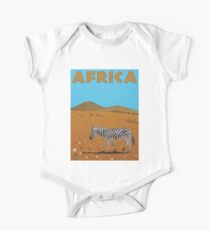 Landscape with Zebra One Piece - Short Sleeve