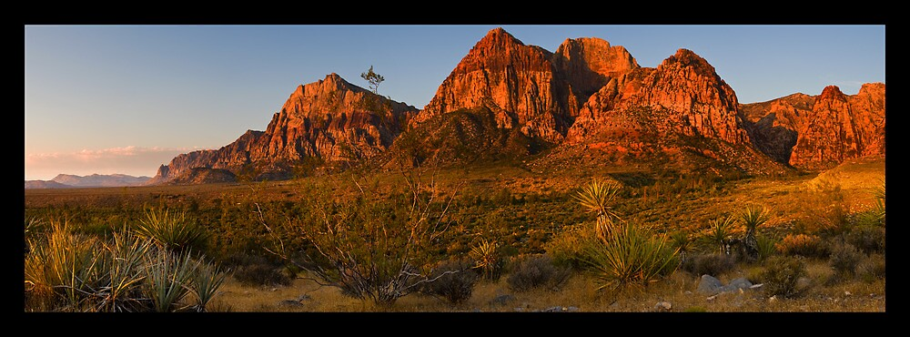 SUNRISE OVER RED ROCK by THOMAS LUCHT