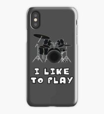 I Like to Play Drums iPhone Case/Skin