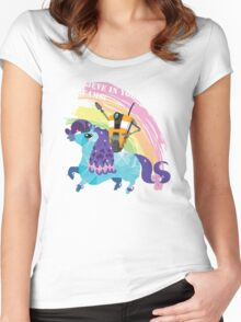 BELIEVE IN YOUR DREAMS! Women's Fitted Scoop T-Shirt