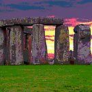 Stonehenge Sunset by trobe