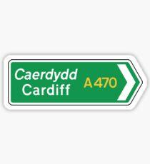 Cardiff, UK Road Sign Sticker