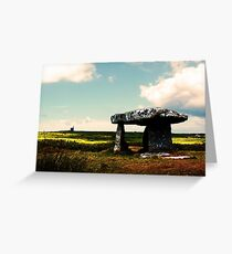 Lanyon Quoit And Ding Dong Mine Greeting Card