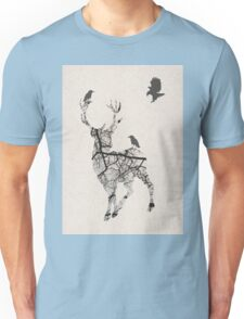 Mystical Stag and bird Unisex T-Shirt