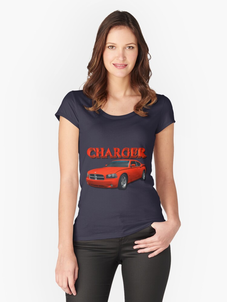 Red Charger Women's Fitted Scoop T-Shirt Front