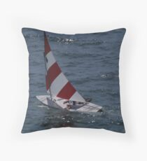 Sailing in the Bay of Banderas Throw Pillow