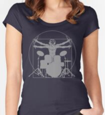 da Vinci percussion lines Women's Fitted Scoop T-Shirt