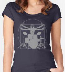 da Vinci percussion lines Women's Fitted Scoop T-Shirt