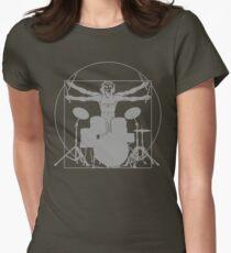 da Vinci percussion lines Womens Fitted T-Shirt