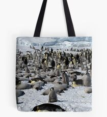 Snow Hill Island Emperor Penguin Rookery Tote Bag