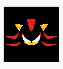 Shadow the Hedgehog Minimalistic Design Photographic Print